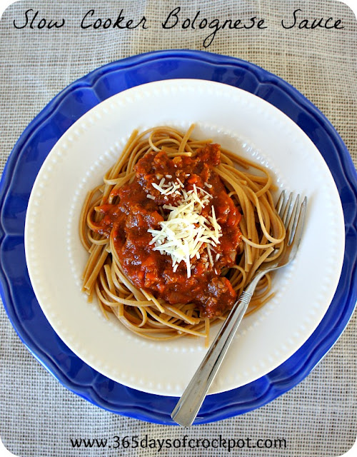 Recipe for Crock Pot Bolognese Sauce with Pasta #crockpot #dinner #slowcooker