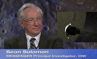 Sean Solomon, Messenger Mission Principal Investigator – 18 March 2011. NASA-CIW, 2011.