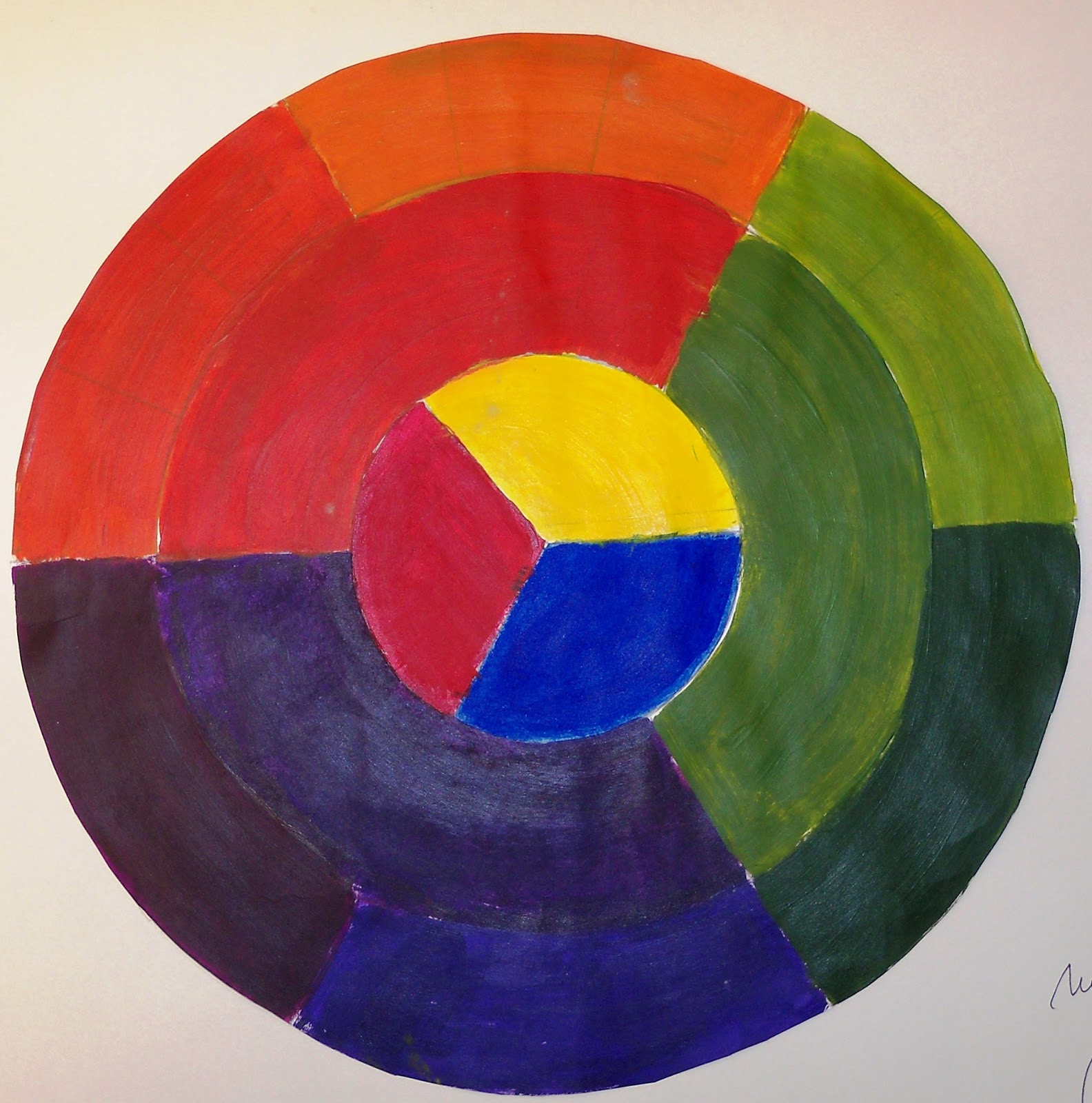 Silvia barzola arte circulo crom tico de 12 colores - Circulo cromatico 12 colores ...