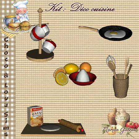 My sims 3 blog kitchen decor patterns and wall stickers for Sims 3 kitchen designs