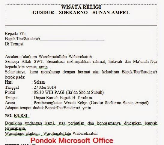 contoh dokumen inti proses mail merge ms word