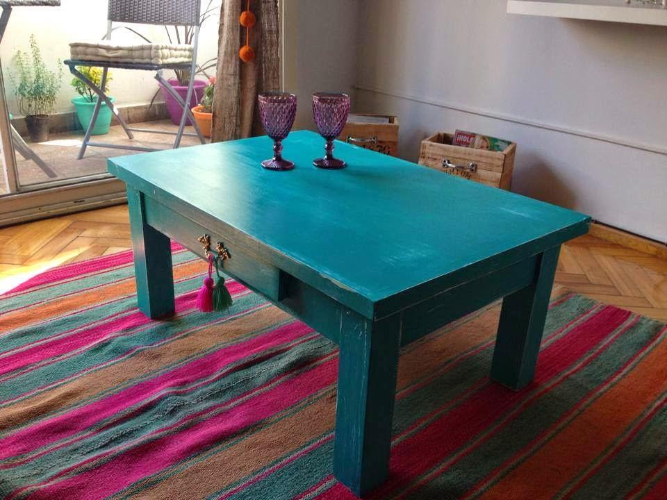 Vintouch muebles reciclados pintados a mano mesa - Muebles de madera pintados a mano ...