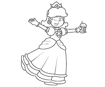 #1 Princess Daisy Coloring Page