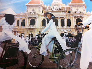 Vietnamese Girls cycling