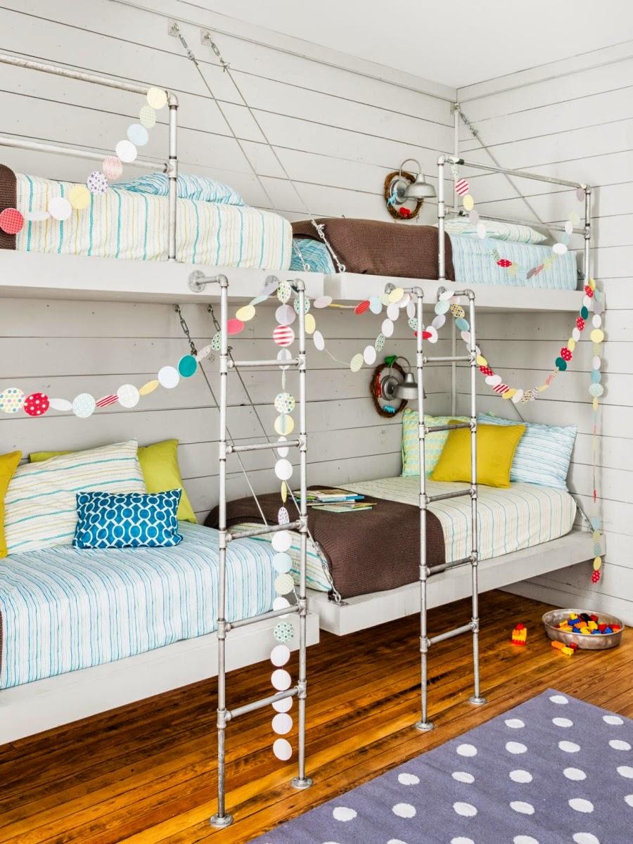 wystrój wnętrz, home decor, wnętrza, urządzanie mieszkania, Boże Narodzenie, Święta, ozdoby świąteczne, dekoracje świąteczne, styl vintage, pokój dziecięcy, piętrowe łóżko