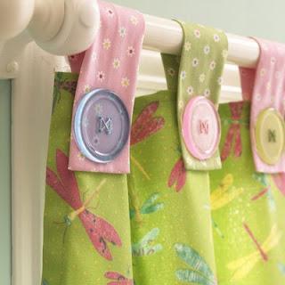 cortinas com presilhas e botões