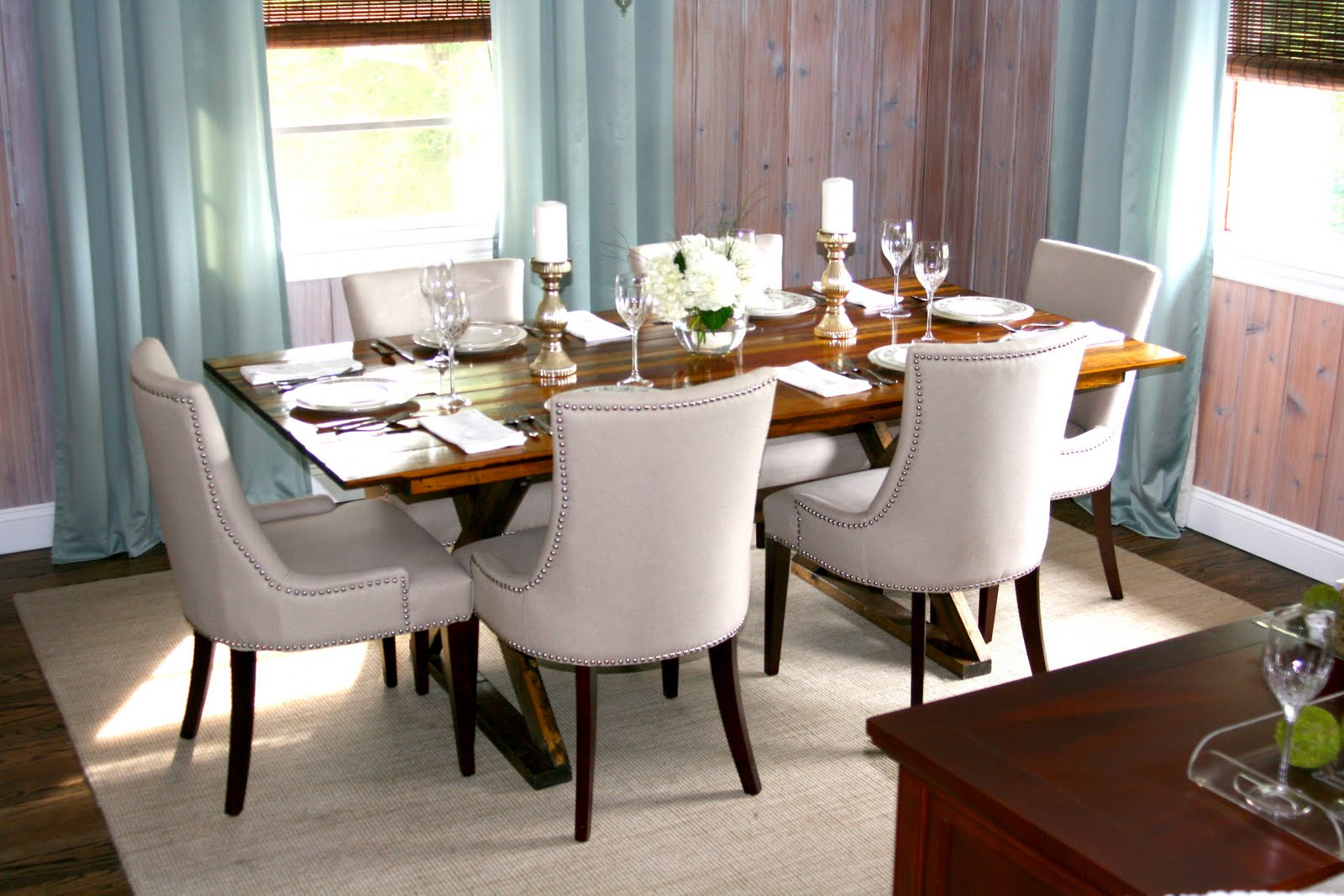 justatouchofgray blogspot gray kitchen table Dining Room