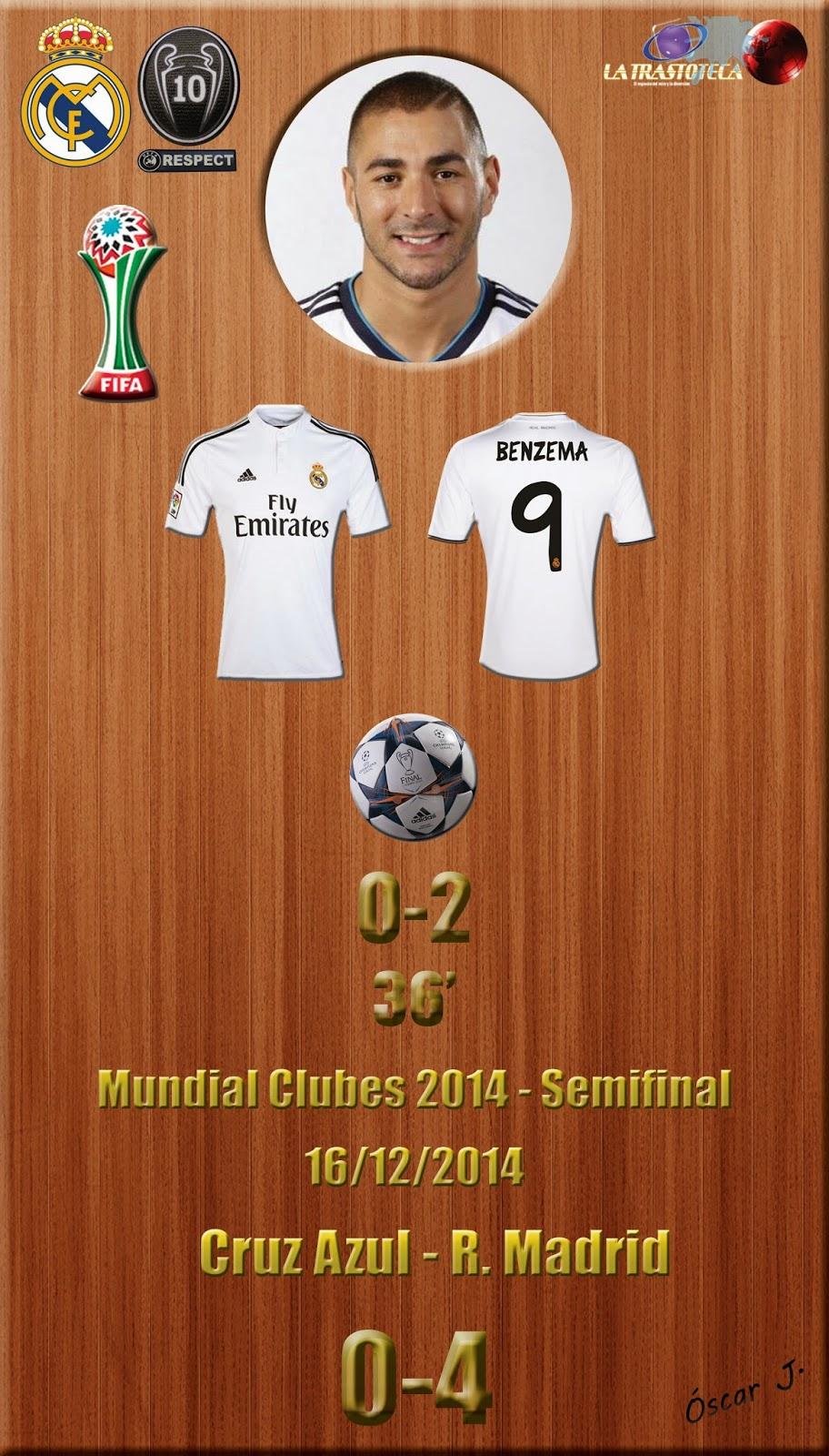 Cruz Azul 0-4 Real Madrid - Mundial de Clubes de la FIFA MARRUECOS 2014 - Semifinales (16/12/2014)