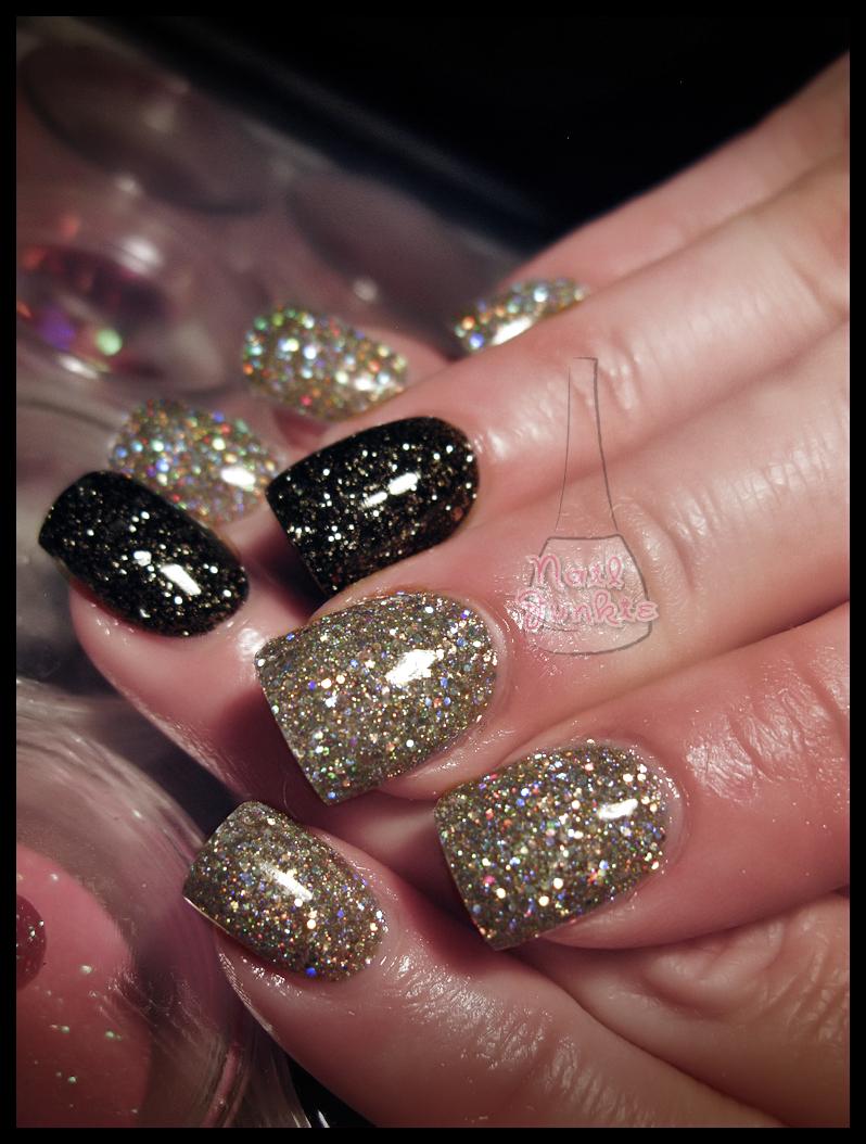 23 wonderful Black Glitter Acrylic Nails – slybury.com
