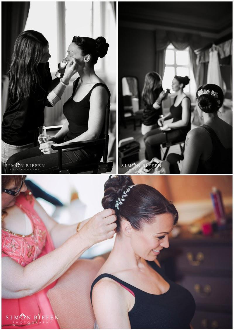 Clearwell Castle wedding bride preparations