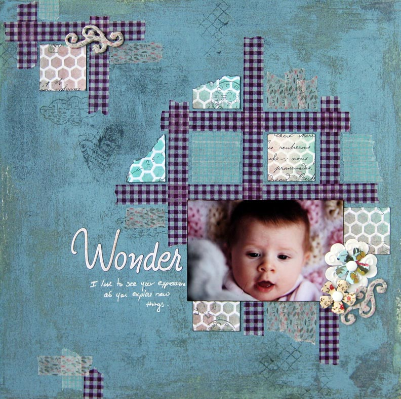 Love My Tapes Wonder Scrapbook Layout With Washi Tape