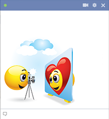 Facebook Emoticons Taking Photographs