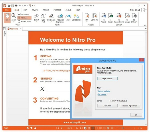 Download Nitro Pro v9.5.3.8 Full Keygen for Windows 32 Bit & 64 Bit