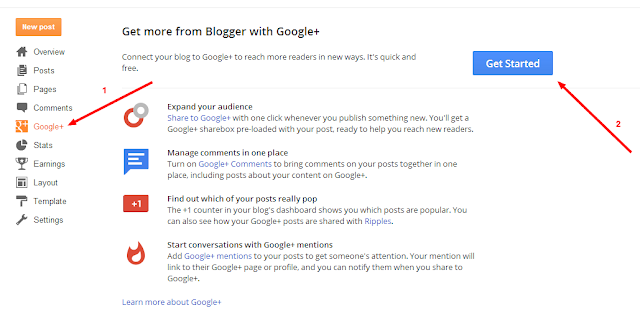 Implement Google plus comments in Blogger