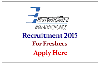 Bharat Electronics Limited Recruitment 2015 for the post of Member Research Staff