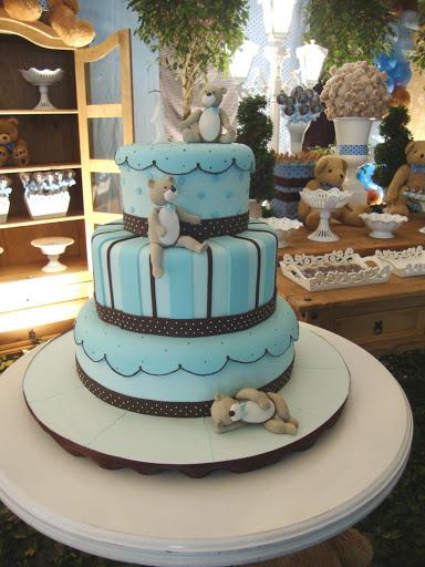 decoracao festa urso azul e marrom : decoracao festa urso azul e marrom:Dicas de Festa Infantil: Festa Urso Marrom e Azul