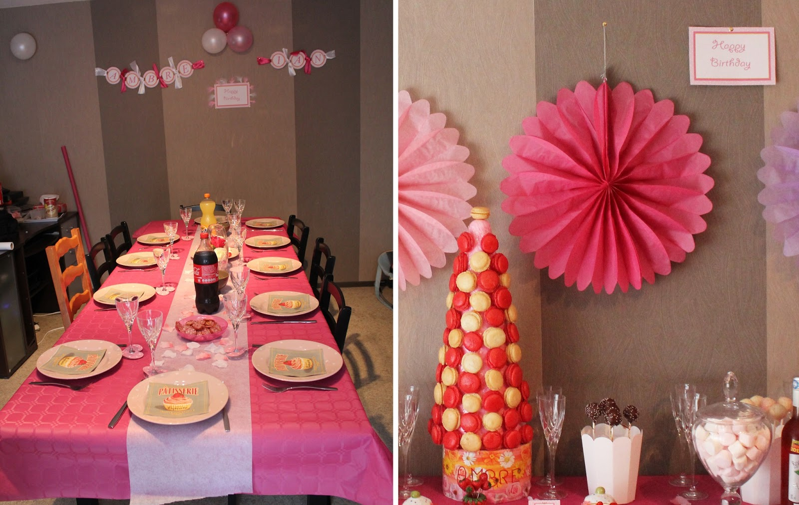 Deco Table Anniversaire 1 An Fille