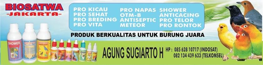 obat burung pro kicau, pro sehat, pro breding, pro vita. pro nafas, meteor, anti septic, shower