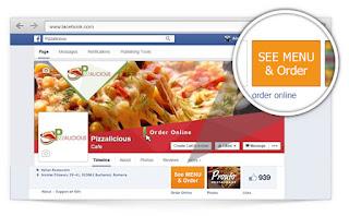 facebook ordering menu