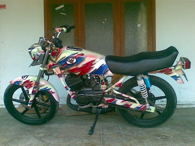 Modifikasi Yamaha RX King Airbrush 2012 - Gambar Modifikasi Motor
