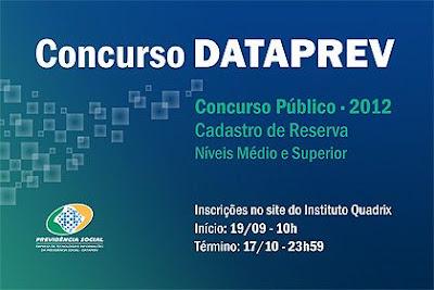 CONCURSO DATAPREV 2012 INSCRIÇÕES