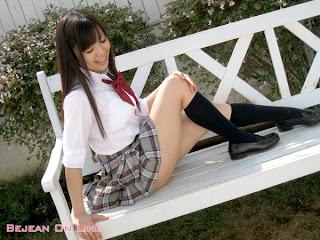 Mizuho Shiraishi Japanese Sexy Model Sexy Janpan Student Uniform From BEJEAN ON LINE 3