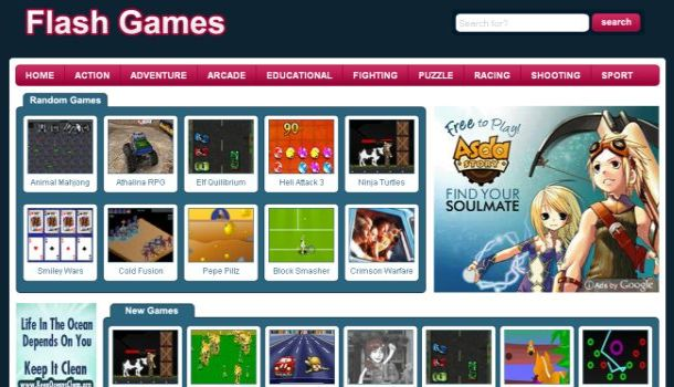 Template Name : Flash-Games WordPress Themes-->Download Themes