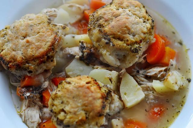 Chicken Stew with Herby Dumplings ~ Simple Food
