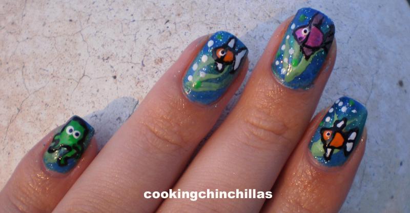 Fish The Ocean Nail Art Design