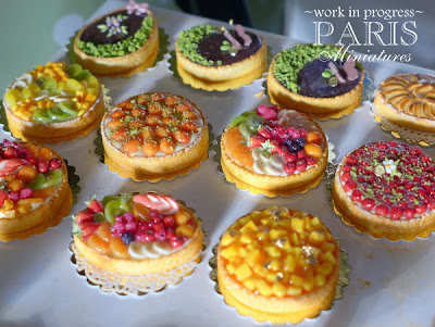 SIMP preview - miniature fruit tarts in one inch scale