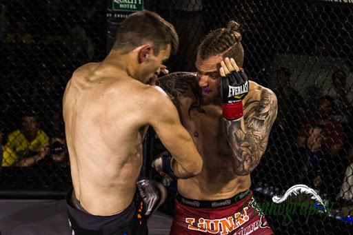 Global Warrior F.C. 2, Alec Ricci vs Kyle Prepolec at Burlington Central Arena in Burlington, Ontario on May 30, 2015. Photo: Jeremy Penn / Pennography  NIKON D7100 AF Zoom 17-55mm f/2.8G 1/400, f/2.8 ISO: 1600