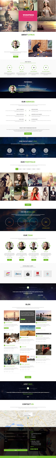 Best Creative One Page Multipurpose Theme
