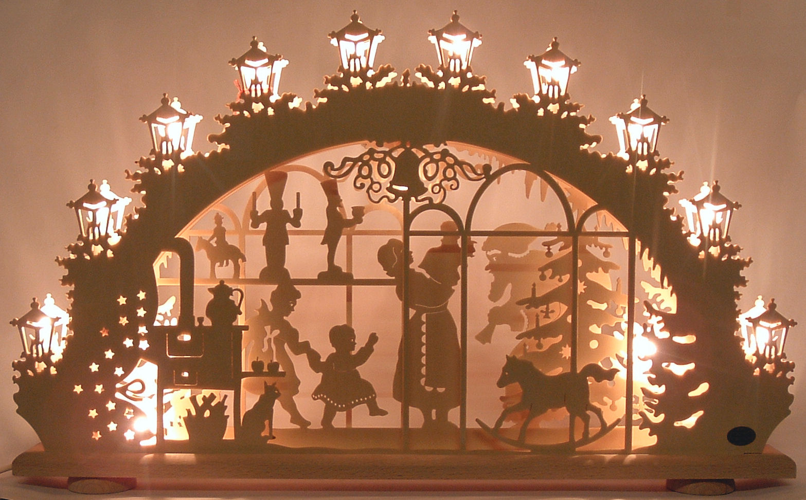 related to the schwibbogen and hailing from the same region of germany is the tradition of the christmas pyramid whose origins date back to the middle ages