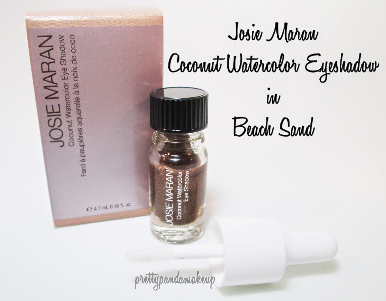 Josie Maran Coconut Watercolor Eyeshadow in Beach Sand