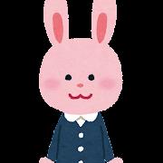 幼稚園児のうさぎのキャラクター