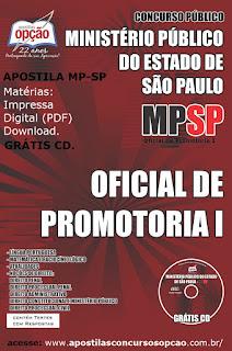 Apostila Concurso Público Ministério Público/SP OFICIAL DE PROMOTORIA I 2015.