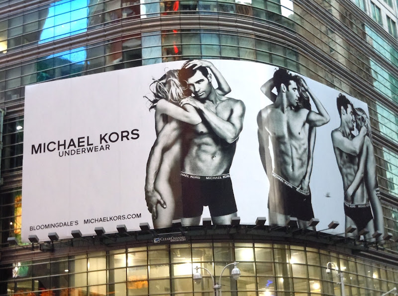 Michael Kors underwear Cory Bond billboard