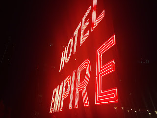 Empire Hotel in New York at Night