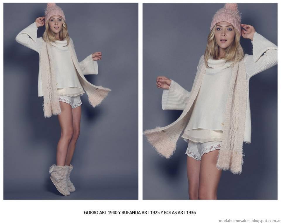 Moda invierno 2015 tejidos Agostina Bianchi.