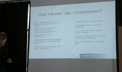 Evertiq föreläsning - sammanfattar vad som händer inom Elektronikbranschen