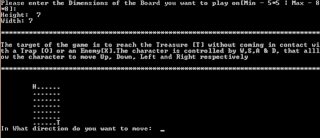 Dungeon Crawler Game, Initial Screen Capture,  C++ Code For Dungeon Crawl Game ( Dungeon Crawler Game )