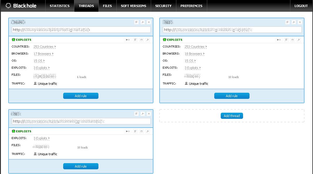 BlackHole Exploit Kit 2.0 released with more latest Exploits