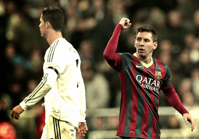 Lionel Messi overshadowed Ronaldo at the Bernebeu