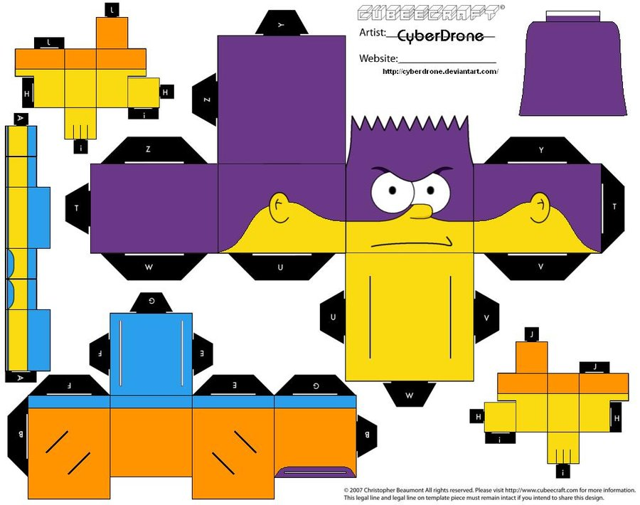 Papercraft BartMan