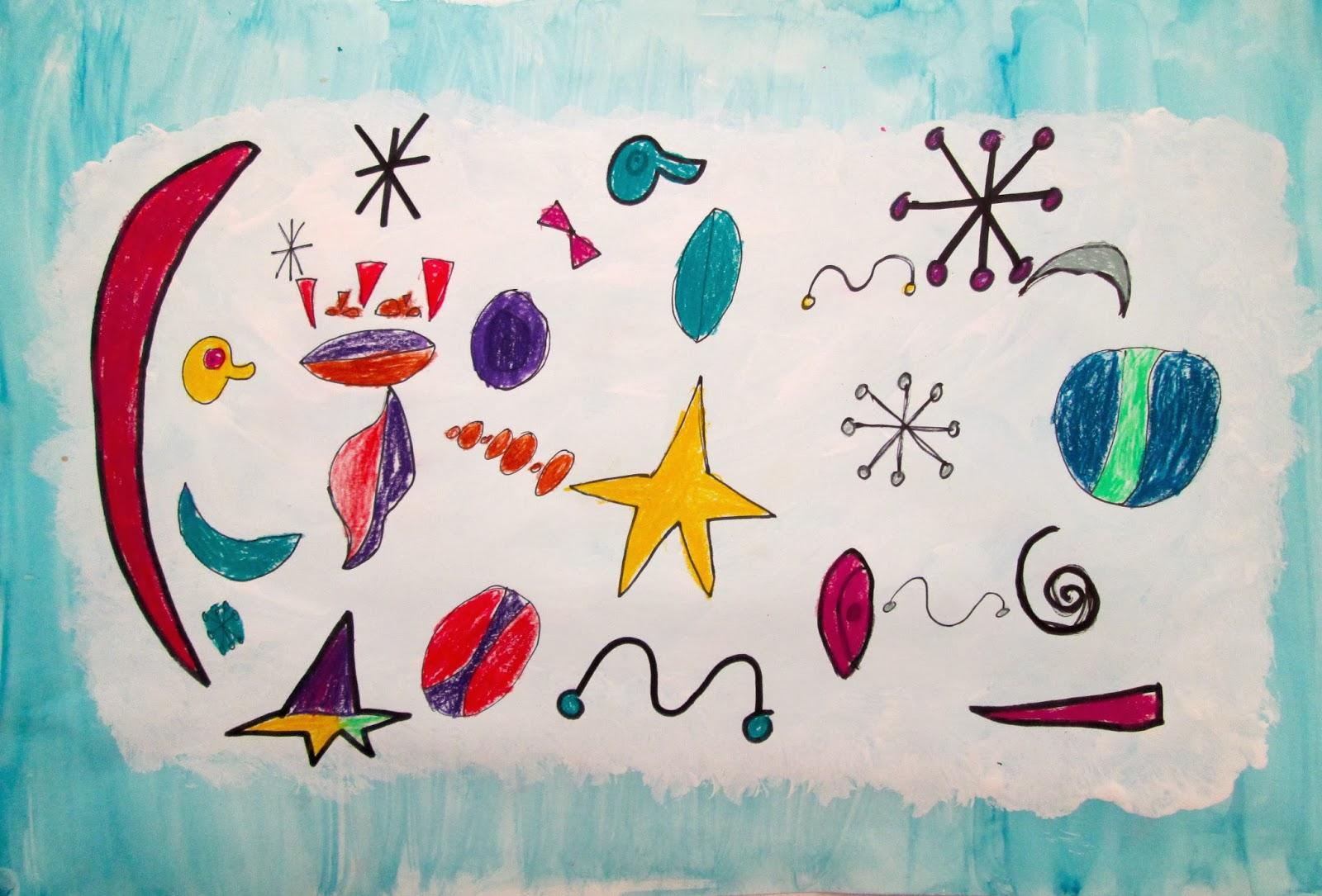 Joan Miro Paintings by 2nd Grade   Lower School Art at Kinkaid