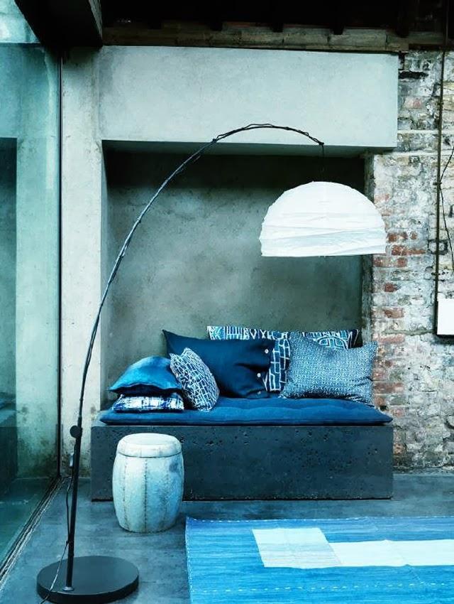 Mur bleu / Déco tendance lovers of mint