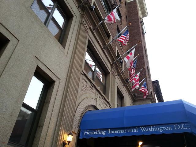 Staying at the hostelling international washington DC.