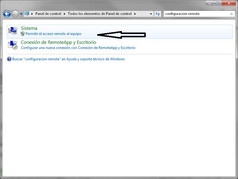 Permitir el acceso remoto al equipo windows 7