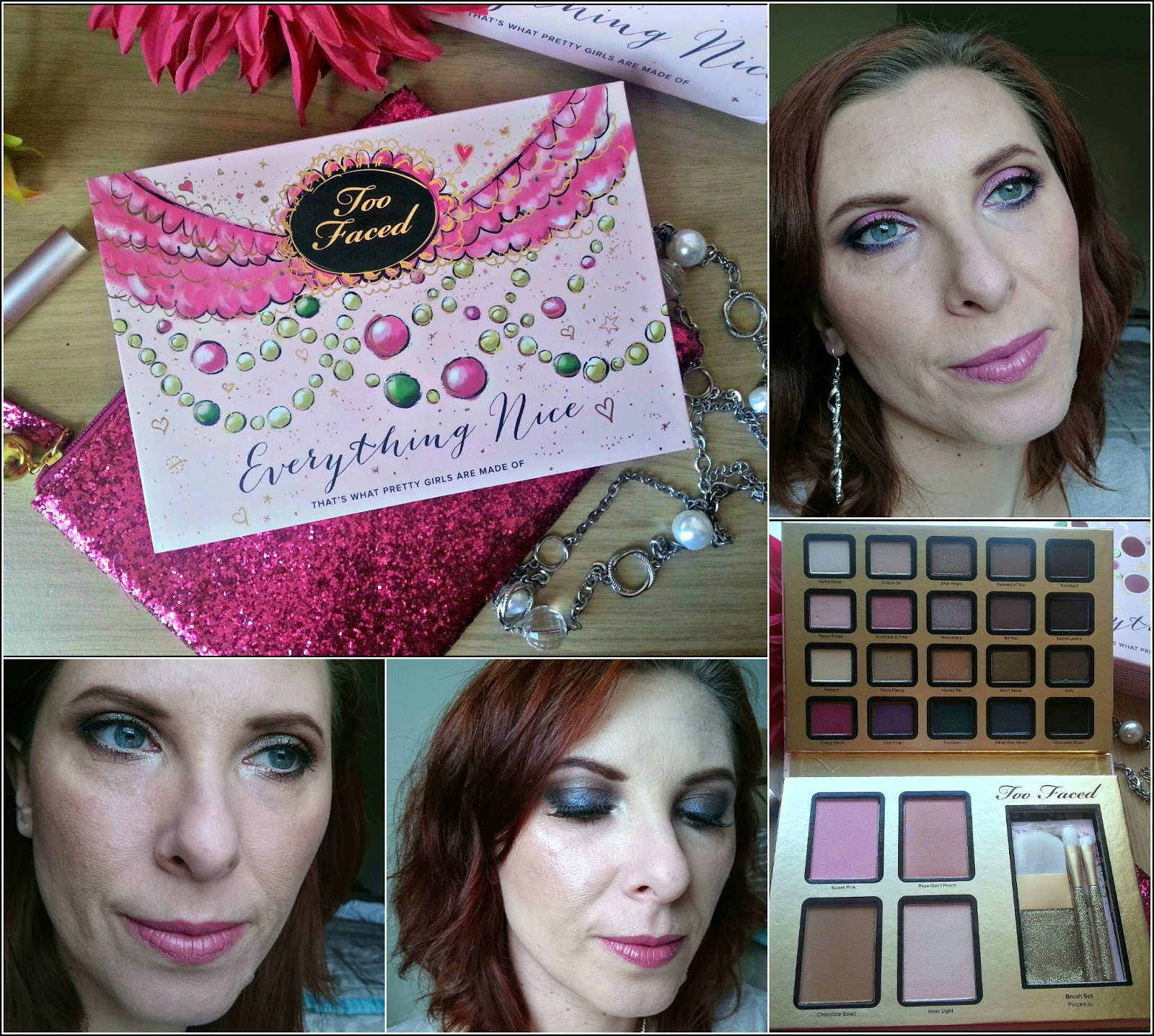 Too faced Everything Nice palette - makeup looks