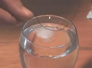 Experimentos caseros para niños hielo sal